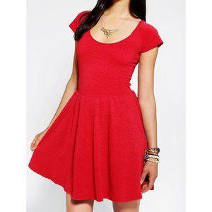 UO Red Skater Dress
